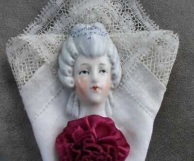 Antique Half Doll Flat Back, Bas Relief, German, Unusual and lovely, No Reserve