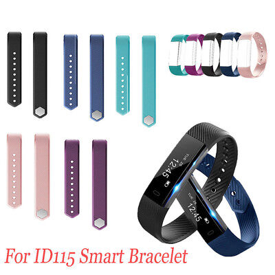Replacement Silicone Smart Bracelet Band Wrist Strap For Veryfit Id115/lite Orna