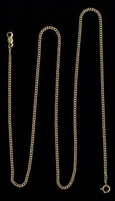 """New 14K 2.71 Gram Solid Yellow Gold 18"""" Cuban Link Pendant Necklace Chain Lot BC"""