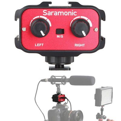 Saramonic SR-AX100 Audio Mixer Adapter with 3.5mm Inputs for DSLR Cameras