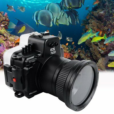 Seafrog 40m/130ft Underwater Diving Camera Housing Case for Canon 760D 18-55mm