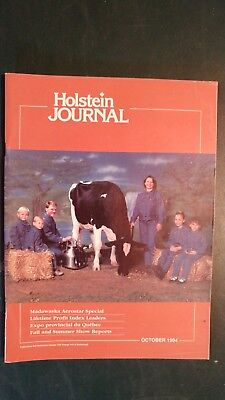 """Holstein Journal 1994 The """"madawaska Aerostar"""" Tribute Issue + Top Index Cows"""
