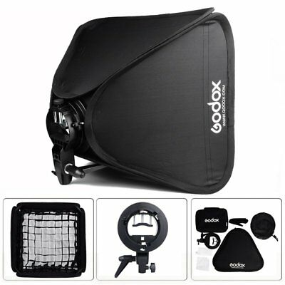 Godox 50cm Foldable Bowens Mount Softbox with Grid and S-type Speedlite Bracket