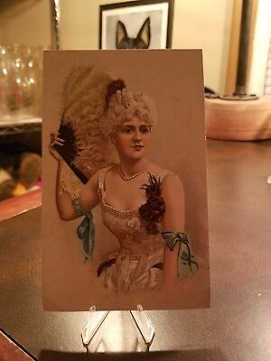 Vintage 1880s Trade Card Victorian Pinup A.C. YATES Clothing NYC Philadelphia