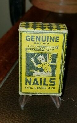 Old Vtg Genuine Nails Chas. F Baker & Company EMPTY- box only