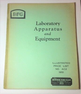 The Denver Fire Clay Company 1951 Laboratory Apparatus and Equipment