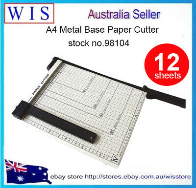 A4-B7 Manual Paper Cutter,12 Sheets Steel Photo Paper Cutter with Handle-98105