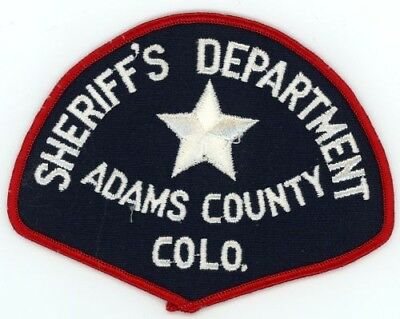 Adams County Sheriff Colorado Co Patch Police See Below For Great Deal