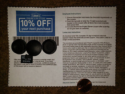 (5-Pack) Five Qty. Lowe's 10% OffCoupons Best Expiration Available (FAST SEND)