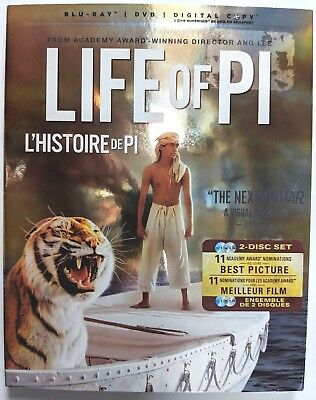 Life of Pi (Blu-ray/DVD) 2 Disk set (No Digital code) English, French, Spanish