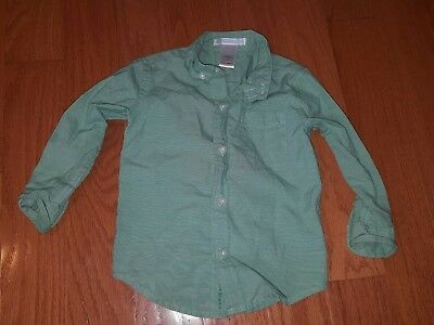 Janie and jack Boys Long Sleeves Shirt Size 18-24 months Green
