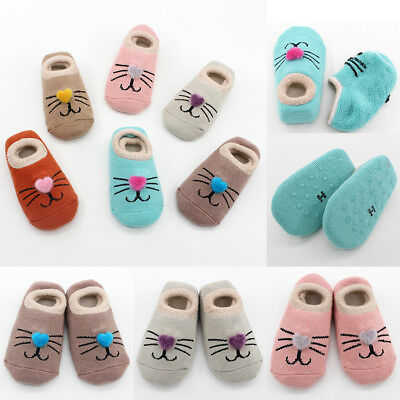 Winter Newborn Baby Boys Girls Kids Cotton Socks Shoes Anti-Slip Slippers Boot