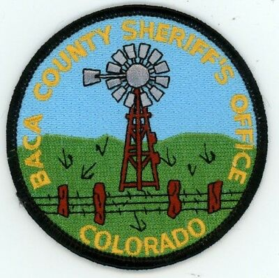 Baca County Sheriff's Office Style #1 Colorado Co Patch See Below For Great Deal