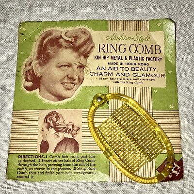 Vintage NOS Hair Accessories Ring Comb Barrette Hair Clip Deadstock 1930s 1940s