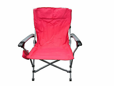 Folding Camping Chair Padded Outdoor Armchair With Drink Holder Aluminium