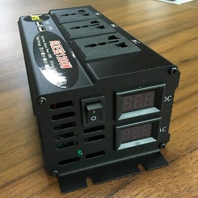 Peak 1200W Pure Sine Wave Inverter OFF Grid Solar System Power Inverter DC12V/24