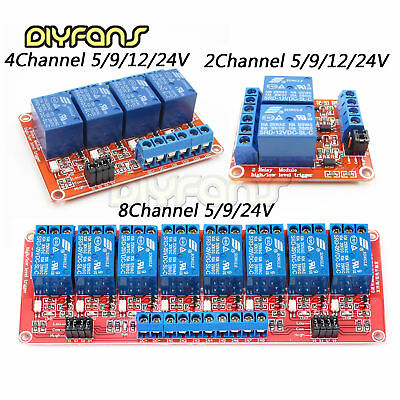 2/4/8Channel Modul With Optokoppler Isolation H/L Level Trigger Relay 5/9/12/24V