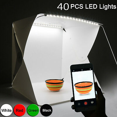 Double Mini Light Room Photo Studio Photography Lighting Tent Backdrop Cube Box