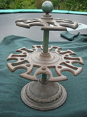 rubber stamp cast iron carousel, 2 tiers, spins, antique office, display / hobby
