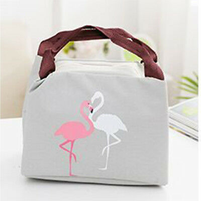 Convenient Outdoor Camping Flamingo Lunch Bag Thermal Bag Food Storage Bags