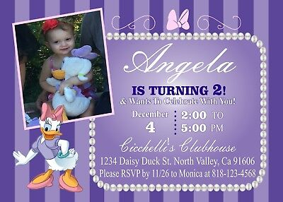Daisy Duck Birthday Invitation #4 Printable 4x6 or 5x7 | Turnaround Time 24-72hr
