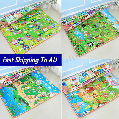 15mm 2mx1.8m Thick Baby Play Mat Floor Rug Cushion Crawling Picnic Blanket