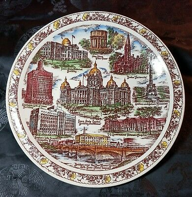 Historic Des Moines Collector Plate - design by Vernon Kilns for Yonkers