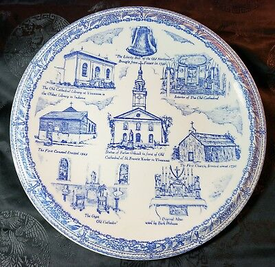 Historic The Old Cathedral Collector Plate by Vernon Kilns First Parish Church
