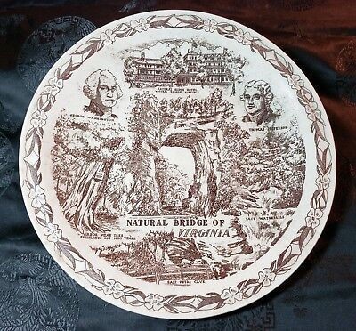 Historic Natural Bridge Collector Plate by Vernon Kilns - a Natural Wonder