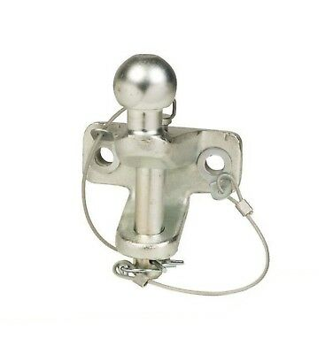 Ball and Pin Hitch, Clevis, 50mm Tow Ball, Tow Bar, Dixon Bate Style, Silver, HD