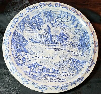Historic Colorado Collector Plate by Vernon Kilns