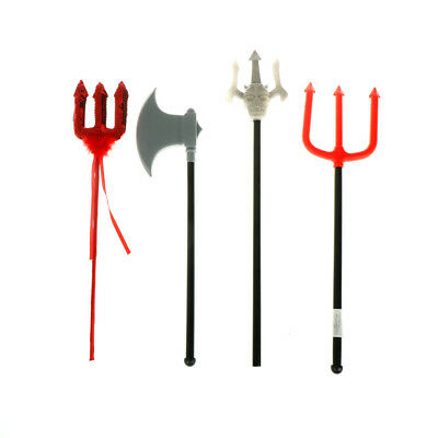 1PC Devil Pitch Fork Plastic Novelty Evil Prop for Halloween Fancy Dress decor ^