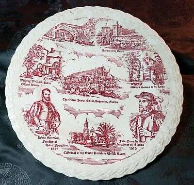 Historic Saint Augustine Florida Collector Plate by Vernon Kilns