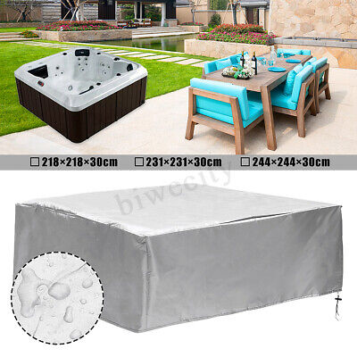 3 Sizes Hot Tub Spa Cover Cap Square Protect Anti-UV Dust-roof Anticorrosive