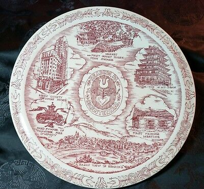 Historic Reading, PA Bicentennial Collector Plate by Vernon Kilns