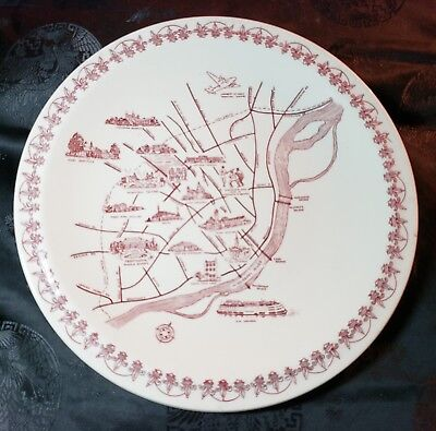 Historic St. Louis Missouri Copyright design Collector Plate by Vernon Kilns