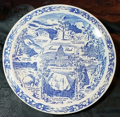 Historic State of Utah - The Beehive State Collector Plate by Vernon Kilns