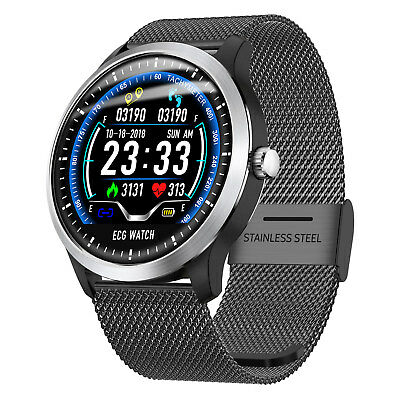 Bluetooth ECG Smart Watch Band Heart Rate Monitor Fitness Tracker Activity Sport