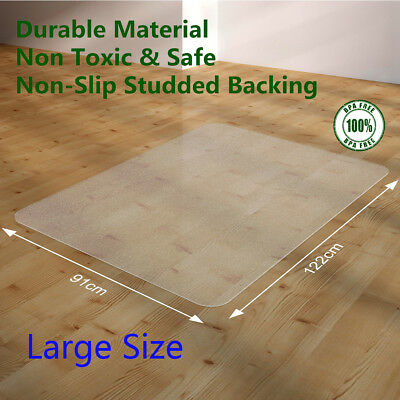 122x91cm Hard Floor Chair Mat Premium PVC Home Office Wood Protector Work