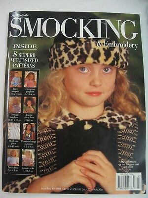 No.43 Australian Smocking & Embroidery Magazine 8 Multi size pattern dress teen
