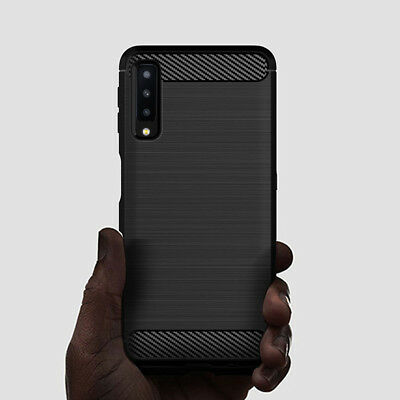 For Samsung Galaxy A7 2018 A5 A3 Shockproof Silicone Hybrid Case Soft TPU Cover