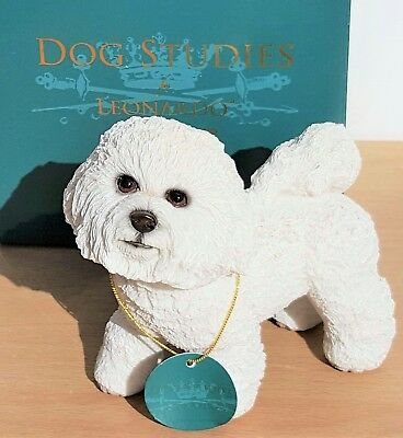 Bichon Frise Dog Ornament Gift Figure Figurine Stuate By Leonardo Collection