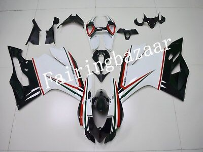 Fit for Ducati 899 1199 Panigale 2012-2014 Black White ABS Injection Fairing Kit