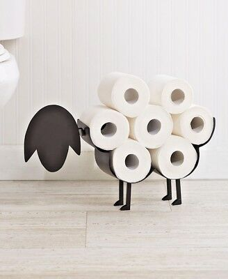 New Novelty Black Sheep Bathroom Toilet Roll Holder Tissue Storage Free Standing