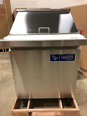 """NEW CoolFront 27"""" 1 One Door Mega Top Refrigerated Sandwich Prep Table NEW"""