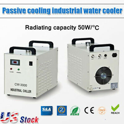 USA - NEW 110V CW-3000DG Thermolysis Industrial Water Chiller for Laser Engraver