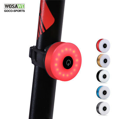 Waterproof Bicycle Rear Light Bike Taillight LED Riding Lamp USB Rechargeable
