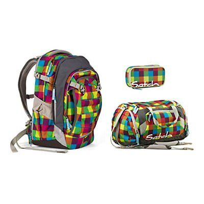 e197c573e3f14 SATCH MATCH - 3tlg. Set Schulrucksack - Purple Leaves - EUR 259