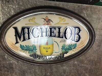 Genuine Vintage Michelob Beer Sign Plastic 24x15