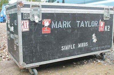 """Simple Minds Touring Trunk  """"mark Taylor""""  Flight Case, Man Cave Table Ect"""